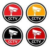 CCTV pictogram, set sign Royalty Free Stock Photo