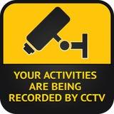 CCTV pictogram, video surveillance sign Stock Image