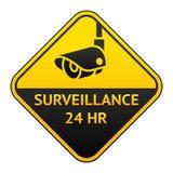 CCTV pictogram, video surveillance sticker Stock Images