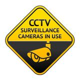 CCTV pictogram, video surveillance symbol Royalty Free Stock Image