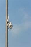 CCTV on the pole Royalty Free Stock Photos