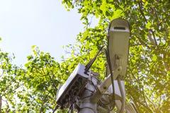 CCTV for public park stock photo