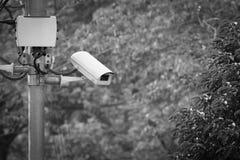 CCTV que grava eventos importantes e uma casa e uma propriedade de protetor Foto de Stock Royalty Free
