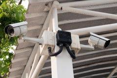 CCTV que registra eventos importantes y una casa y una propiedad de guardia Fotografía de archivo libre de regalías
