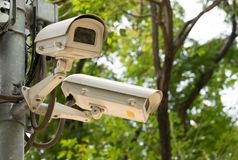 CCTV recording important events Stock Image