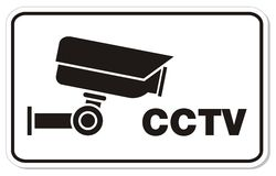 CCTV rectangle sign Stock Images