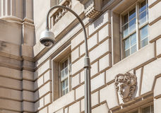 CCTV with the retro beautiful exterior wall Royalty Free Stock Photo