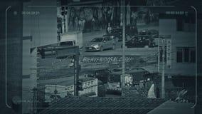 CCTV Ruchliwie droga W południe - amerykański miasto zdjęcie wideo