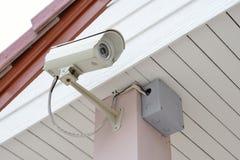 Cctv-säkerhetskamera Arkivfoto