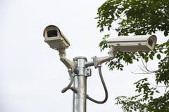 Cctv-säkerhetskamera Fotografering för Bildbyråer