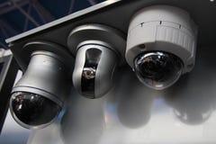 Cctv-säkerhetskammar Fotografering för Bildbyråer