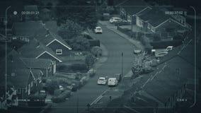 CCTV samochodów przejażdżka Przez Podmiejskiego terenu zdjęcie wideo
