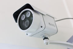 CCTV security camera. In building Stock Photography