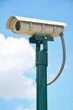 CCTV security camera, Close Circuit Television on blue sky. Royalty Free Stock Photos