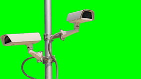 CCTV Security Camera Green Screen stock video footage