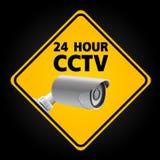 CCTV Security Camera. 24 Hour Stock Image