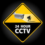 CCTV Security Camera. 24 HOUR Stock Photography