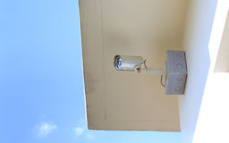 CCTV Security camera for house Stock Photo