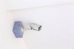 CCTV Security camera for house stock photography