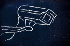 Cctv security camera illustration Royalty Free Stock Photos