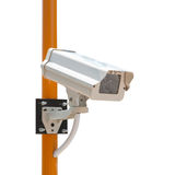CCTV Security Camera with installation. (Isoloated on white background Stock Image