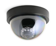CCTV security camera isolated Royalty Free Stock Photography