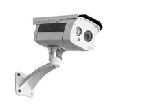 CCTV Security camera isolated white background. Royalty Free Stock Photography