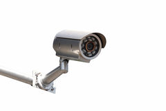 CCTV Security camera isolated white background. Stock Photo