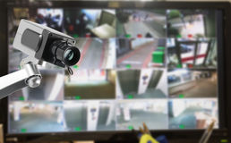 CCTV security camera monitor in office building. Lighting in studio Stock Photography