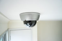 CCTV security camera monitor in office building. Lighting in studio Royalty Free Stock Photos