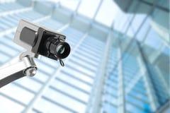 CCTV security camera monitor in office building. Lighting in studio Stock Photos