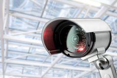 CCTV security camera monitor in office building. Lighting in studio Royalty Free Stock Photo