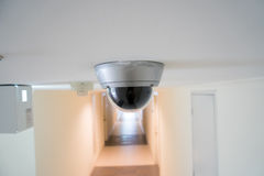 CCTV security camera monitor in office building. In Thaialnd's building Stock Image