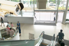 CCTV Security Camera operating in center public relations hospi Royalty Free Stock Images