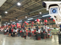 The CCTV Security Camera operating Royalty Free Stock Photos