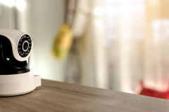 The CCTV security camera operating in home. Royalty Free Stock Photo