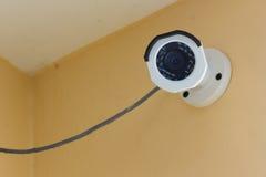 The CCTV security camera operating. Royalty Free Stock Photos
