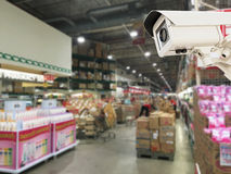 The CCTV Security Camera operating Royalty Free Stock Photo