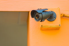 CCTV security camera outdoor Stock Photos