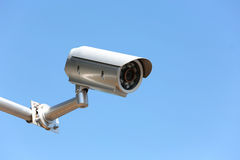 CCTV Security camera at public area. Stock Images