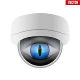 CCTV security camera with reptile eye. Stock Images