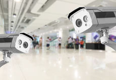 CCTV Security camera shopping department store background. Royalty Free Stock Image