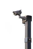 CCTV security camera on white background Stock Photos