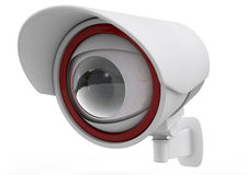 CCTV security camera on white background. 3d Stock Photo
