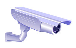 CCTV security camera on white background Stock Image
