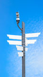 CCTV security camera wireless and blank signboard Royalty Free Stock Photo