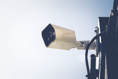 CCTV security cameras outside the white building Royalty Free Stock Photography
