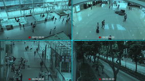 CCTV. Security surveillance monitor splitscreen