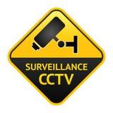 CCTV sign, video surveillance label Stock Image