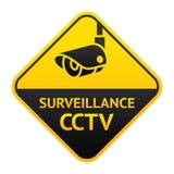 CCTV sign, video surveillance symbol Stock Images